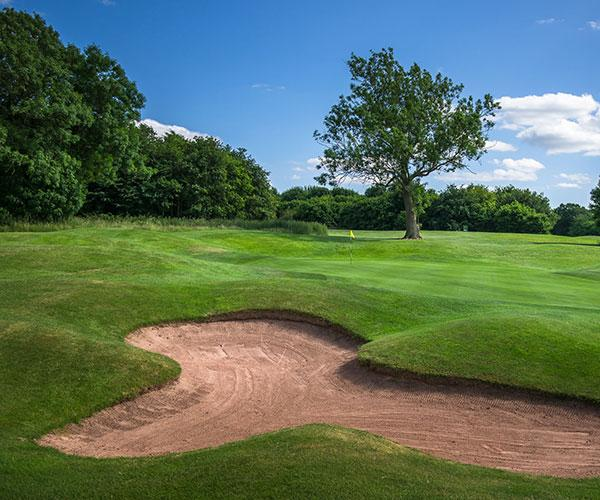 The Shropshire Golf Centre bunker and course